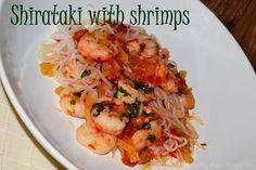 Shirtaki with shrimps   DUKAN DIET RECIPES