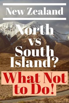 I Travel to New Zealand North or South Island? My Simple Advice Are you wondering, New Zealand North vs South Island? Here's what NOT to do when planning a trip to New Zealand. New Zealand Itinerary, New Zealand Travel Guide, Travel Words, Places To Travel, Travel Destinations, New Zealand Campervan, New Zealand Adventure, Yellowstone Vacation, New Zealand South Island