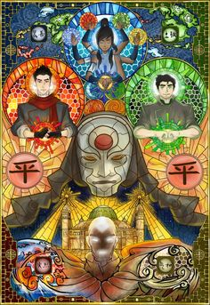 The Legend of #Korra #Mako #Bolin #Amon #Aang
