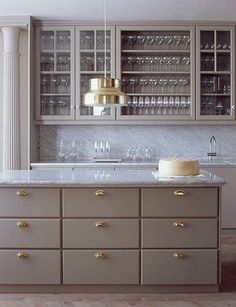 grey brass #marble kitchen ilse crawford #kitchen design #greykitchen