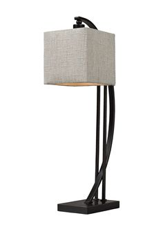 Arched Metal Table Lamp - Bronze