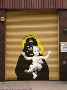 """Straat kunst van mijn favoriete street artist. Banksy, ik houd van zijn """"fuck it"""" attitude."""