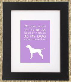 Dog Quotes Framed Print Vizsla by ShopBee on Etsy