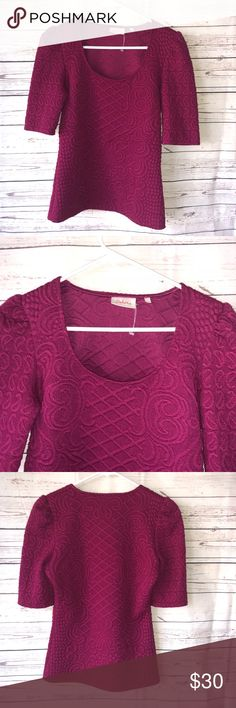 Anthropologie Top Deletta Anthropologie magenta small top Smoke free pet free home Excellent condition Pit to pit 17 24 pit A15 Anthropologie Tops