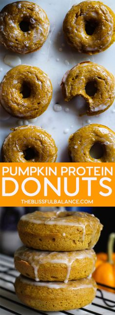 These Glazed Protein Pumpkin Donuts are so soft, sweet, and will keep you full thanks to some added protein. Make them for a crowd and be dubbed a donut connoseuir. I really don't know what took me so long to invest in a donut pan. I mean, I've had... #autumnrecipes #autumnalrecipes #bakingdonuts