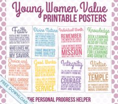 Young Women Value Printable Posters