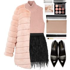 #840 Claire by blueberrylexie on Polyvore featuring Diesel Black Gold, storets, Mason by Michelle Mason, Yves Saint Laurent, Valentino, Vieste Rosa, MAC Cosmetics, Surratt, Forever 21 and Marc Jacobs