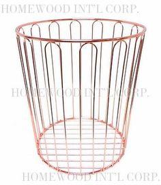 Metallica Waste Basket / Rose Copper (Storage, Bin)(Houseware / Office Accessories)