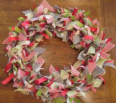 another how to make ribbon wreath tutorial! Now I know what to do with all the left over ribbon from my hairbow making days!!