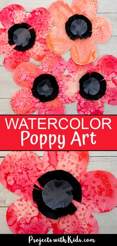 Beautiful Watercolor Poppy Art Kids can Make This watercolor poppy art is such a fun and easy art project for kids. Use easy watercolor techniques kids of all ages will love. A great Remembrance Day craft or fall flower art project. Easy Painting Projects, Fall Art Projects, Painting For Kids, Projects For Kids, Watercolor Paint Set, Watercolor Poppies, Easy Watercolor, Poppies Art, Art Floral