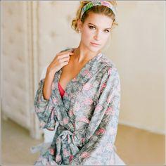 Kimono Style Robe. Habutai Silk. Knee Length. Petal and Dove. By Plum Pretty Sugar. Want