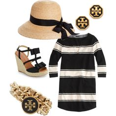 Brooks Brothers hat, J.Crew dress, Kate Spade shoes, Tory Burch jewellery