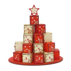 クリスマス アドベントカレンダー ボックスツリー