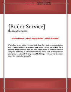 If you have a gas boiler, you may likely have here'd the recommendation that a boiler ought to be serviced once a year. If you are looking for a reliable boiler company then you need, to go online to find your desired company.