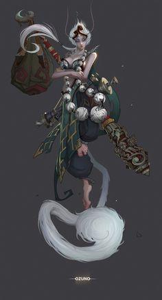 Monkey King, Huy Ozuno on ArtStation at https://www.artstation.com/artwork/monkey-king-73abdc0c-570d-40c8-b509-c43070586a2f
