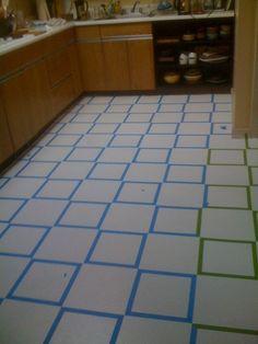 How to Paint Old Linoleum Kitchen Floors | Pinterest | Linoleum ...