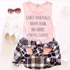 Teenage Fashion Blog: I love This Plaid Outfit Look !