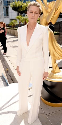 My favourite Robin Wright in Ralph Lauren. This jumpsuit is a killer. Best dressed of the night.