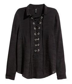Nyörillinen paita | Musta | Naiset | H&M FI