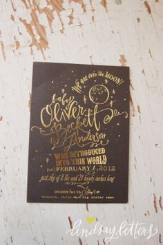 lindsay letters calligraphy- love the gold foiling