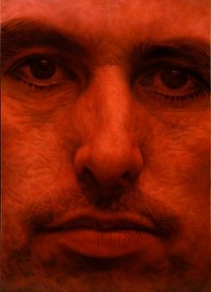 Craig Wylie - Quinacridone self-portrait   Galerie Dukan
