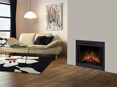 """Dimplex 33"""" Slim Line Built-in Electric Fireplace Box with Blower and Remote!"""