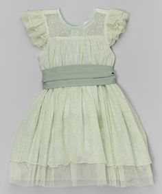 Look at this Trish Scully Child Sage Lace Isabella Dress - Toddler & Girls on #zulily today!