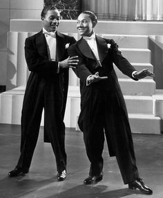 The Nicholas Brothers. Fred Astaire loved these guys. The powers that be wouldn't let them dance on the movie, so Europe got the best out of them... x
