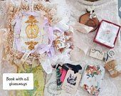 Vintage Style Fabric Books and other handmade items by vintagesoulshinehope