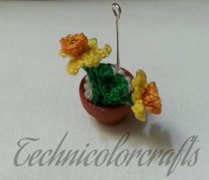Crochet Daffodil Necklace
