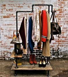 Garment Rack....I will save $$$ just for this! http://stellableudesigns.com/3/artist.asp