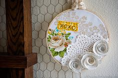 DIY embroidery hoop art -- I have a bunch of embroidery hoops up already in their room... but THIS would really be awesome... IDEAS!! :)