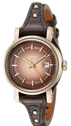 #Fossil #Women's ES3910 Analog Display Analog Quartz Brown Watch⭐⭐⭐⭐⭐#giftideas #fashion - Brown leather women's watch Durable mineral crystal protects watch from scratches Analog-quartz Movement Case Diameter: 30mm Water Resistant To 165 Feet https://twitter.com/TheMarketer2015/status/678511909478494208
