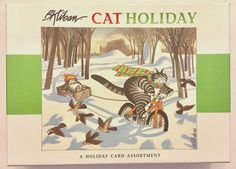 20  B. Kliban Christmas Holiday Cat Cards Season's Greetings in Box New RARE