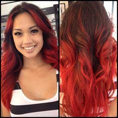Red Ombré @msashleyvee by Jen #ashleyvee #alagosalon #redombre #ombre #hair ... - alagosalon @ Instagram Web Interface - 5th village