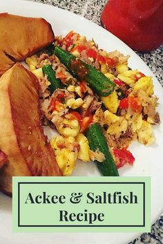 Ackee and Saltfish is Jamaica's national dish. However, it is traditionally served as a breakfast meal Caribbean Recipes, Caribbean Food, Jamaican Stew Peas, National Dish, Island Food, Jamaican Recipes, Yummy Food, Delicious Recipes, Food Photo