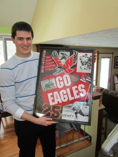 alumni hockey shadow box!  sc 1 st  Pinterest : examples of shadow boxes - Aboutintivar.Com