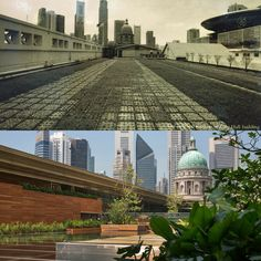 Before & After: rooftop, Ng Teng Fong Garden Gallery.