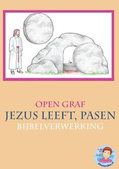 Pasen, Jezus leeft, open graf 2 , knutselen verwerking, kindergarten ressurrection craft, free printable, kleuteridee