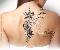 Desing Tattoo - Plume - Arabesque - Féerie- Rosace