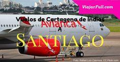 ¿Cuánto tiempo demora el viaje en avión de Cartagena a Santiago, CL?