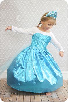 Eisprinzessin Kleid, Kleid für Kleine Prinzessin für Fasching nähen, 4T (ca 3-5 Jahre) nähe