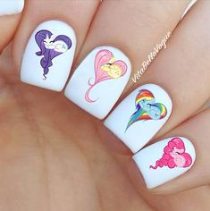 64pc My Little Pony Nail Decal Rarity Pinky By Vitabellovogue