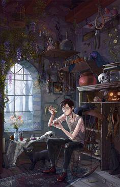 Сын ведьмы   иллюстрации, фэнтези, алхимия, не мое