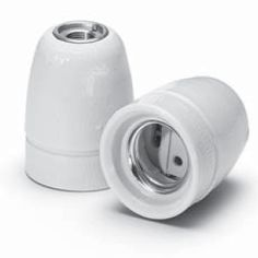 Douille Porcelaine Blanche x3 - Douille porcelaine blanche<br>Design épuré lisse, effet glossy<br><br>Vendue en pack de 3 unités.
