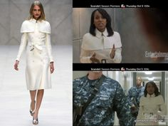 Scandal Olivia Pope Clothes | Scandal Fashion Recap: Olivia Pope's Burberry Spring 2013 White Coat ...