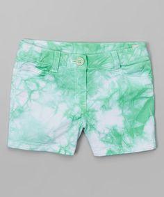 Love this Avocado Tie-Dye Shorts - Girls on #zulily! #zulilyfinds