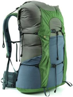 Granite Gear - Crown VC 60 Pack.  Pack weighs just 2.2 pounds. Can carry up to 60 liters worth of gear.