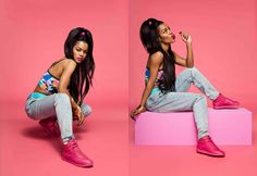 """Reebok Classic & Teyana Taylor Present the Freestyle """"Color Bomb"""" Pack"""