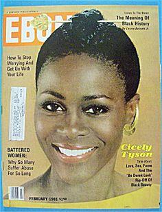 What a beauty! cicely tyson   Ebony Magazine-February 1981-Cicely Tyson (Ebony/Jet) at A Date In ...
